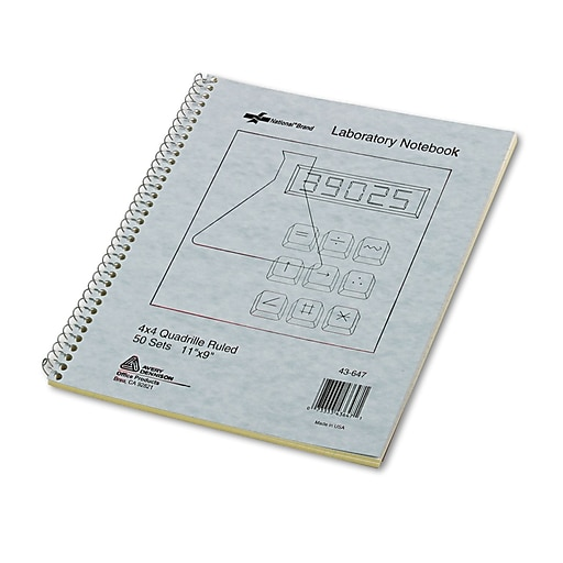 national duplicate laboratory notebooks gray 11 x 9 each 43647