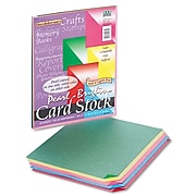 """Pacon® Reminiscence Card Stock Paper, 65 Lbs. Assorted Bright Colors, 8 1/2""""H x 11""""W, 50 Sheets/Pk (09131)"""