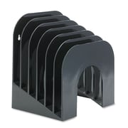 Rubbermaid®, Six-Tier Jumbo Incline Sorter, Plastic, 9 3/8 x 10 1/2 x 7 3/8, Black, Each (96601ROS)