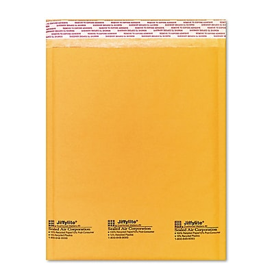 Sealed Air Jiffylite® Self-Seal Bubble Mailer, Golden Brown, 8 1/2 x 1210/Pack (100430478)