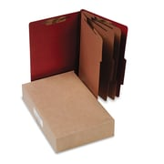 ACCO Pressboard Classification Folders, Top Tab, Earth Red, 10/Box (A7016038)