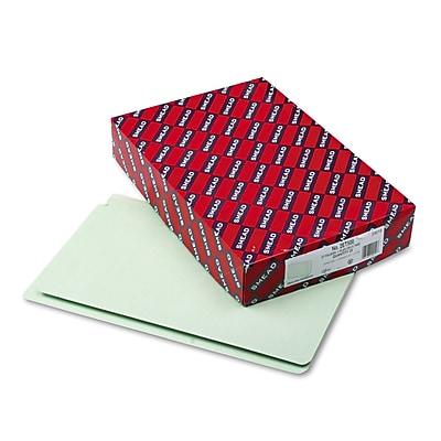 Smead® Extra-Heavy Recycled Pressboard End Tab Folders, Legal, Gray-Green, 25/Box (29210)