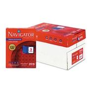 "Navigator® Premium Multipurpose Copy Paper, White, 8 1/2""W x 11""L, 3 Hole Punched, 5000/Ctn"