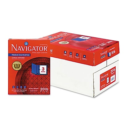 Navigator® Premium Multipurpose Copy Paper, White, 8 1/2