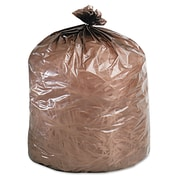 Stout® Controlled Life-Cycle Plastic Trash Bags Trash Bags, 1.1 mil Thickness, Brown, 39 gal, 40/Box (G3344B11)