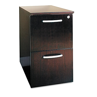 Mayline Napoli Series 2 Drawer Mobile/Pedestal File, Mahogany,Letter/Legal, 15.25''W (NFFMAH)