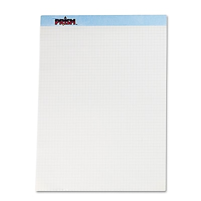 TOPS™ Prism™ Quadrille Perforated Pads, Blue, 8 1/2 x 11 3/4, 12/Pack (76581)