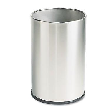 Rubbermaid® Commercial European & Metallic Series Wastebasket, 5 gal, Satin Stainless, Each (FGUB1900SSS)