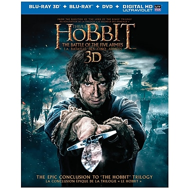 The Hobbit: The Battle of the Five Armies (Blu-Ray 3D) (anglais)