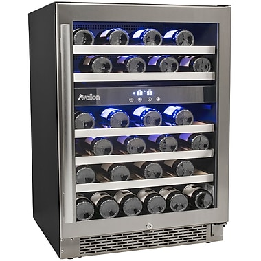 Avallon AWC460DZ 23.5 inch 5 Sections Wine Cooler, 46 Bottle