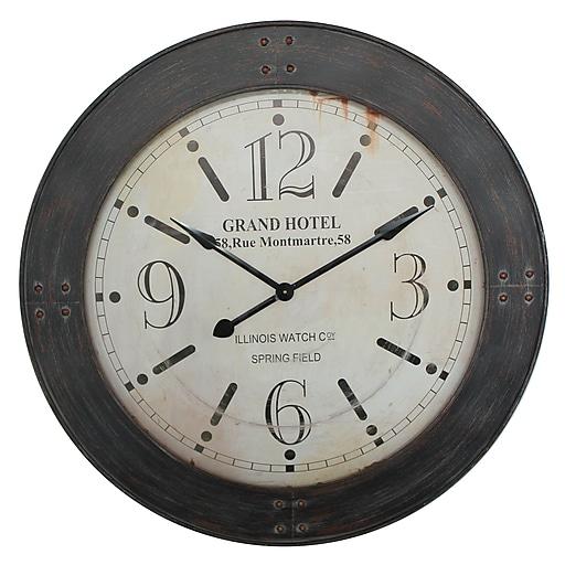 "Yosemite Home Decor 39""H x 39""W x 2.5""D Dark Brown Wall Clock"