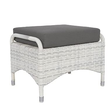 David Francis Furniture Newport Ottoman w/ Cushion; Buttercup