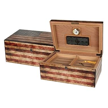 Quality Importers Humidor Supreme Old Glory Box