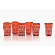 Divine Designs Moroccan Tea Crystal Every Day Glass (Set of 6)