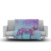 KESS InHouse Panther at Night by Marianna Tankelevich Fleece Throw Blanket; 80'' H x 60'' W x 1'' D