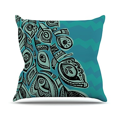 KESS InHouse Peacock Blue II Throw Pillow; 20'' H x 20'' W x 1'' D