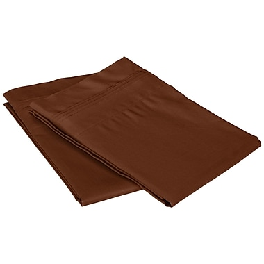 Simple Luxury Superior 650 Thread Count Solid Pillowcase; Chocolate