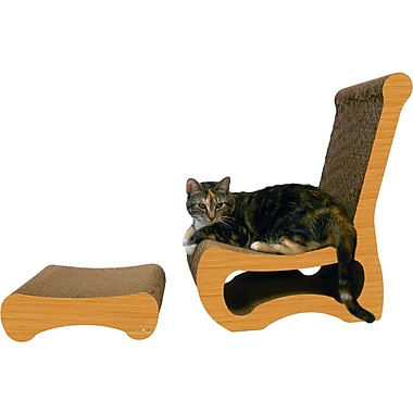 Imperial Cat Scratch 'n Shapes 2 Piece Easy Chair Set Recycled paper Scratching Post