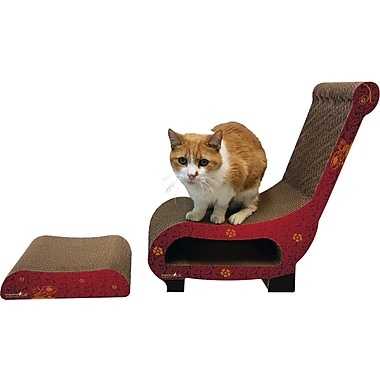 Imperial Cat Scratch 'n Shapes 2 Piece Club Chair Set Recycled paper Scratching Post