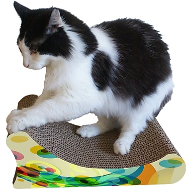 Imperial Cat Scratch 'n Shapes Sleigh Bed Recycled paper Scratching Board