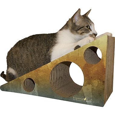 Imperial Cat Scratch 'n Shapes Wedge Recycled paper Scratching Post; Brown Water
