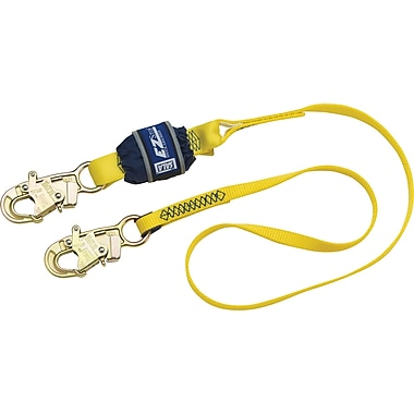 DBI Sala EZ-Stop Shock Absorbing Lanyards, 6', Snap Hook, 1 Leg