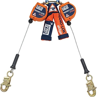 DBI Sala Nano-Lok Edge Self-Retracting Lifelines with Snap Hook, 2 Legs