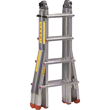 Featherlite Industrial Extra Heavy-Duty Multi-Purpose Jaws™ Telescopic Ladders, 9' to 15'