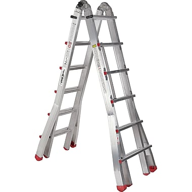 Featherlite Industrial Extra Heavy-Duty Multi-Purpose Jaws™ Telescopic Ladders, 13' to 23'