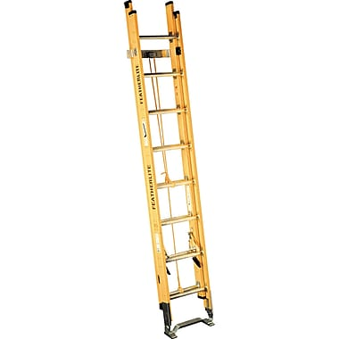 Featherlite Industrial Heavy-Duty Fibreglass Extension Ladders (6200 Series), D-Rung, 28'