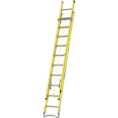 Featherlite Industrial Heavy-Duty Fibreglass Extension Ladders (6200 Series), Round Rung, 28'