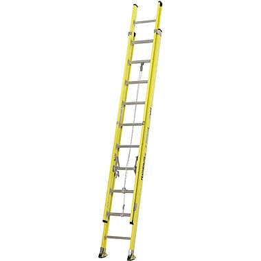 Featherlite Industrial Extra Heavy-Duty Fibreglass Extension Ladders (9200 Series), 20'