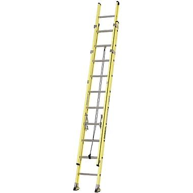 Featherlite Industrial Heavy-Duty Fibreglass Extension Ladders (6900 Series), 20'