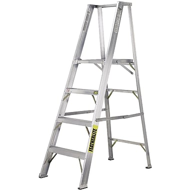 Featherlite Industrial Heavy-Duty Aluminum Platform Stepladders (3500 Series), 8'