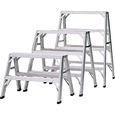 Featherlite Industrial-Duty Aluminum Sawhorse/Steps, 4'