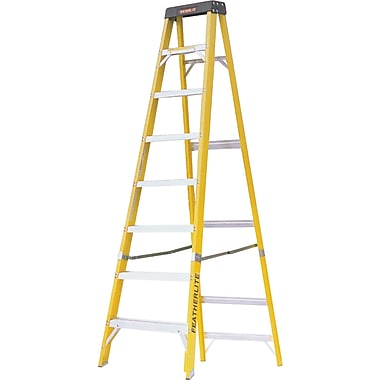 Featherlite Industrial Heavy-Duty Fibreglass Stepladders (6900 Series), 8'