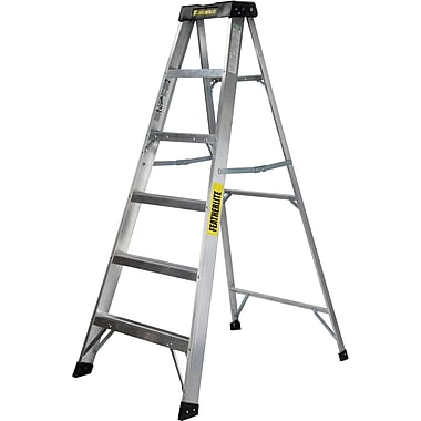 Featherlite Extra Wide Heavy-Duty Industrial Aluminum Stepladders (3400-XW Series), 8'