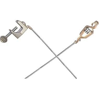 Lind Equipment – Câbles légers pour métal. et mise à la terre, pince croco. et serre-p. 1 po, acier inoxydable, 36 po, 2/pqt