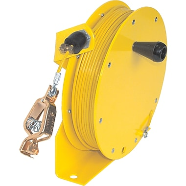 Lind Equipment Heavy-Duty Static Grounding Hand Wind Reels, 100'