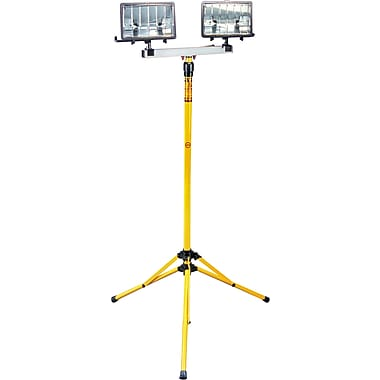Lind Equipment Heavy-Duty Worklights, 4' to 8' Telescopic, Twin