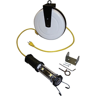 Lind Equipment Heavy-Duty 8W LED Work Lights with Cord Reels