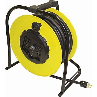 Lind Equipment Hand-Wind Electric Cable Reels, 50' Cord with Plug