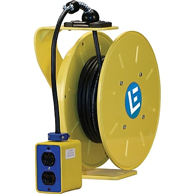 Lind Equipment LE9000 Series Heavy-Duty Cord Reels, Single Outlet, 15 A, 50' Cord