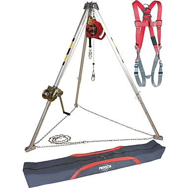 Protecta Pro™ Confined Space Systems with Tripod Carrying Bag and Class A Harness with Pass-Thru Buckles