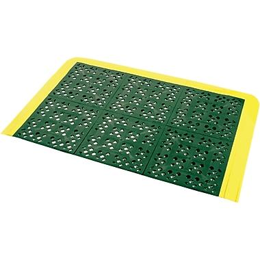 Wearwell – Ensembles de tapis F.I.T.MC no 546 pour station de douche d'urgence, 27 x 42 po, verts avec bordure jaune