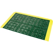 "Wearwell F.I.T.™ Kits No. 546 Emergency Shower Station Mats, 27"" x 42"", Green with Yellow Border"