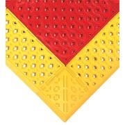 Wearwell – Ensembles de tapis F.I.T.MC no 546 pour station de douche d'urgence, 27 x 42 po, rouges avec bordure jaunes