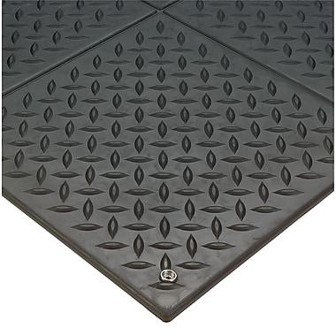 Wearwell – Tapis à motifs losange modulaire ESD no 788, 3 x 3 pi