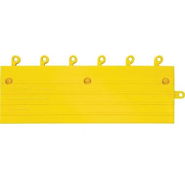 Wearwell – Système de revêtement de sol ergonomique ErgoDeckMD 6 x 18 po, jaune, 2/paquet