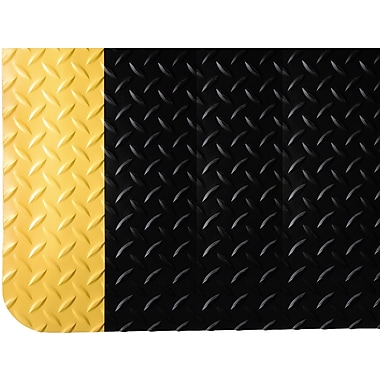 Wearwell Diamond-Plate Spongecote® No. 415, 4' x 75', Black/Yellow